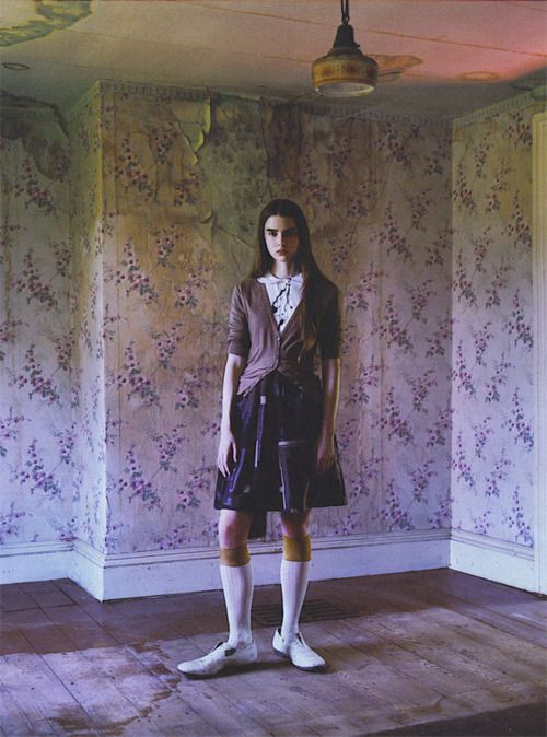 """Wallflower"". Ali Michael by Mario Sorrenti for W September 2007"
