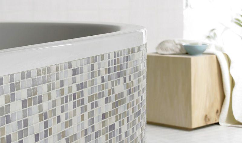 Gut bekannt Mosaik eignet sich um Rundungen an der Badewanne zu fliesen. Hier ZA73