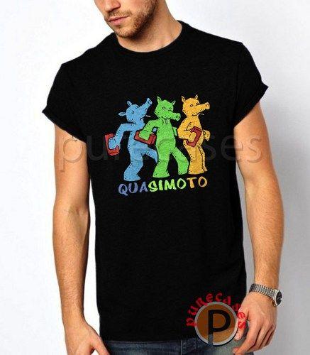 Vintage QUASIMOTO Men's Black T-Shirt Tee