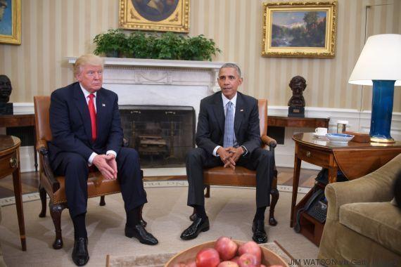 Barack obama reçoit donald trump dans le bureau ovale vidÉo