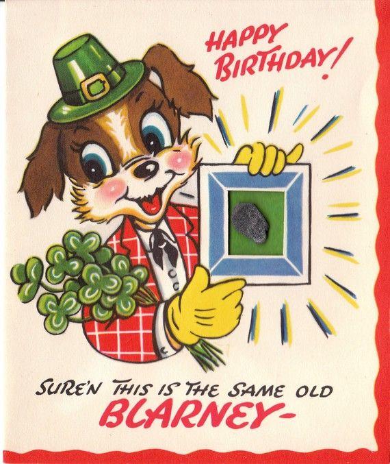 Sale Vintage 1950s Happy Birthday Greetings Card B29 Etsy Vintage Birthday Cards Vintage Greeting Cards Vintage Birthday