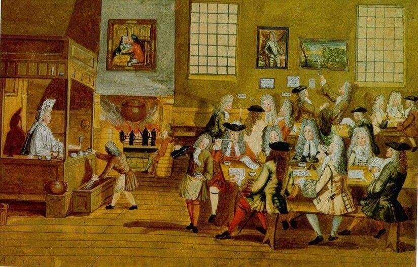 生活革命 世界の歴史まっぷ 17世紀後半ロンドンには誰でも出入りが自由なコーヒーハウスが生まれた 砂糖入りコーヒーや紅茶を飲みタバコをくゆらせながら自由に議論 様々な情報が集まりジャーナリズムも成立した コーヒー店 世界の歴史 歴史