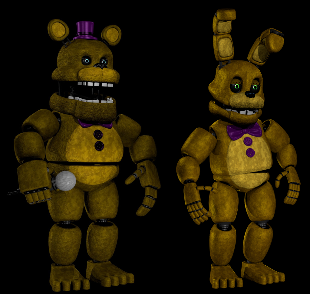 Fredbear And Springbonnie By AbsentedTangent
