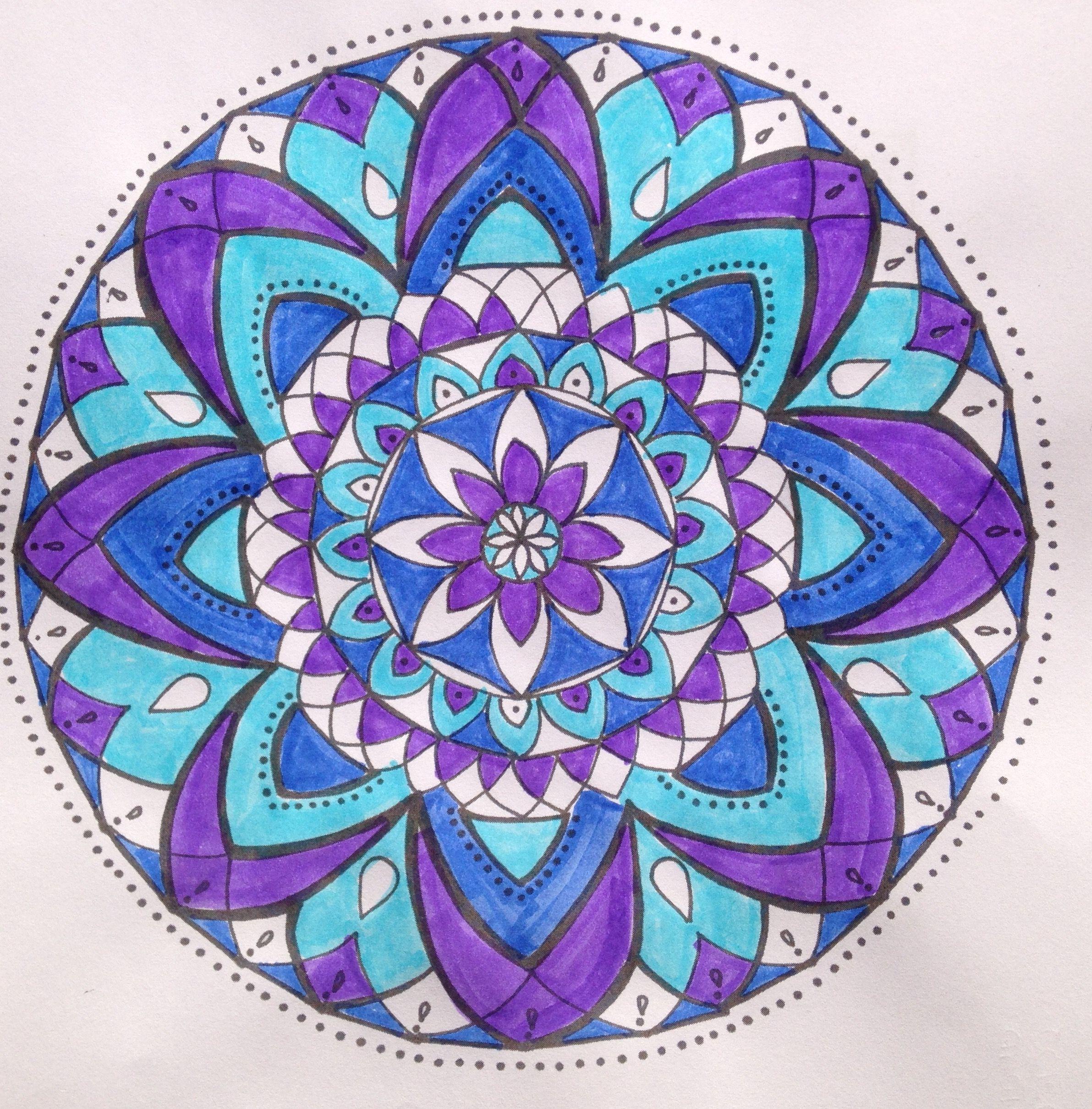 Colores Frios Morado Azul Y Celeste Colores Frios Mandalas De Colores Mandalas