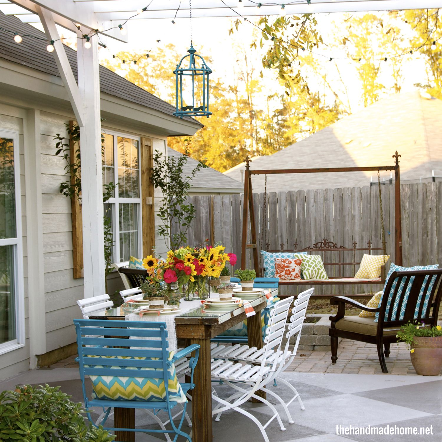 Brick patio with fire pit outdoor spaces and gardens pinterest