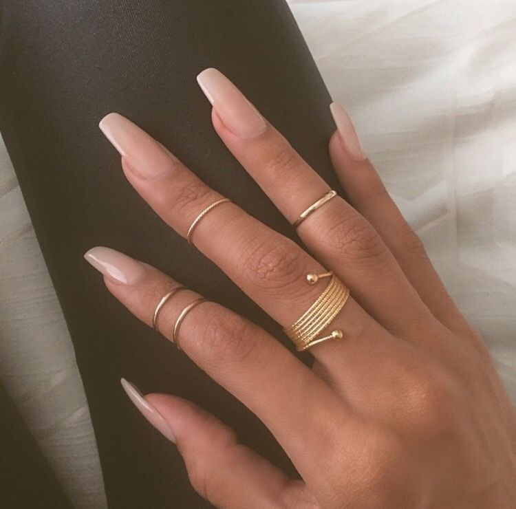 pinterest: @xpiink ♚ Plain Acrylic Nails, Natural Acrylic Nails, Acrylic  Nails For - Azmaaaaa In 2018 Me Pinterest Nails, Acrylic Nails And Nail