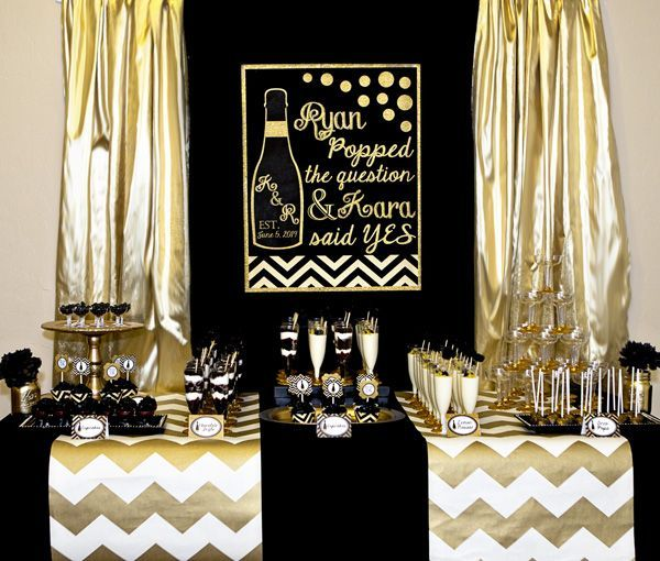 Wedding Ideas Note Worthy Engagement Party Inspiration Black