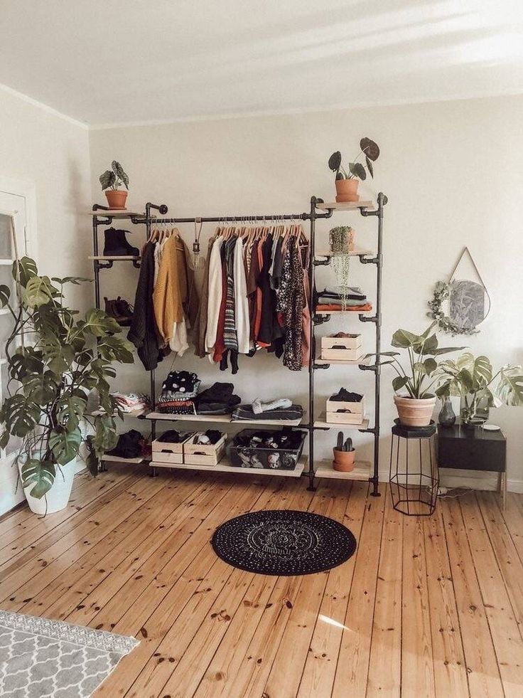 Photo of – A mixture of modern, Bohemian and industrial furnishing styles from the middle of the …