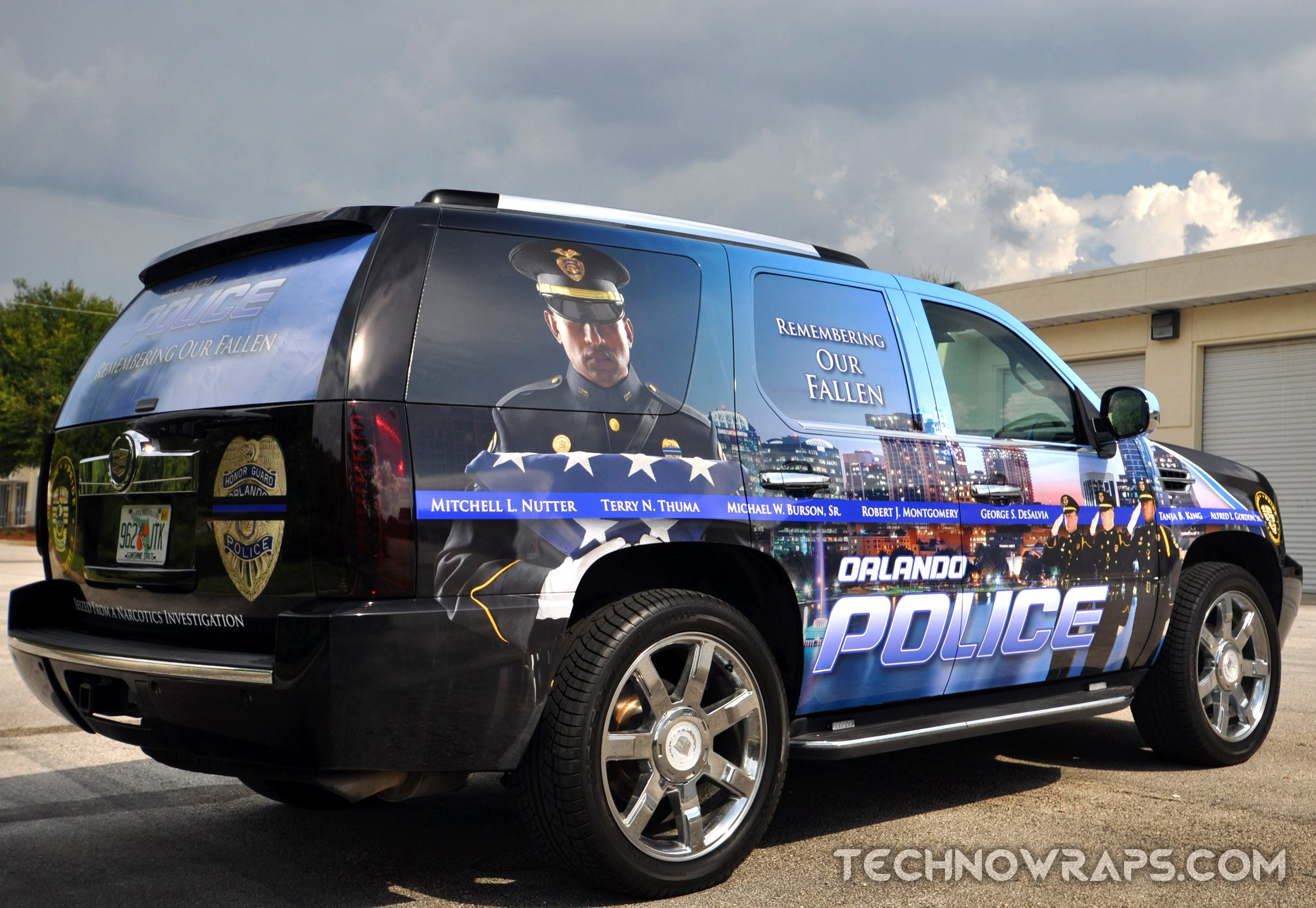 Custom Designed Police Vehicle Wrap By TechnoSigns In Orlando - Custom decal graphics on vehiclesvinyl car wraps in houston tx