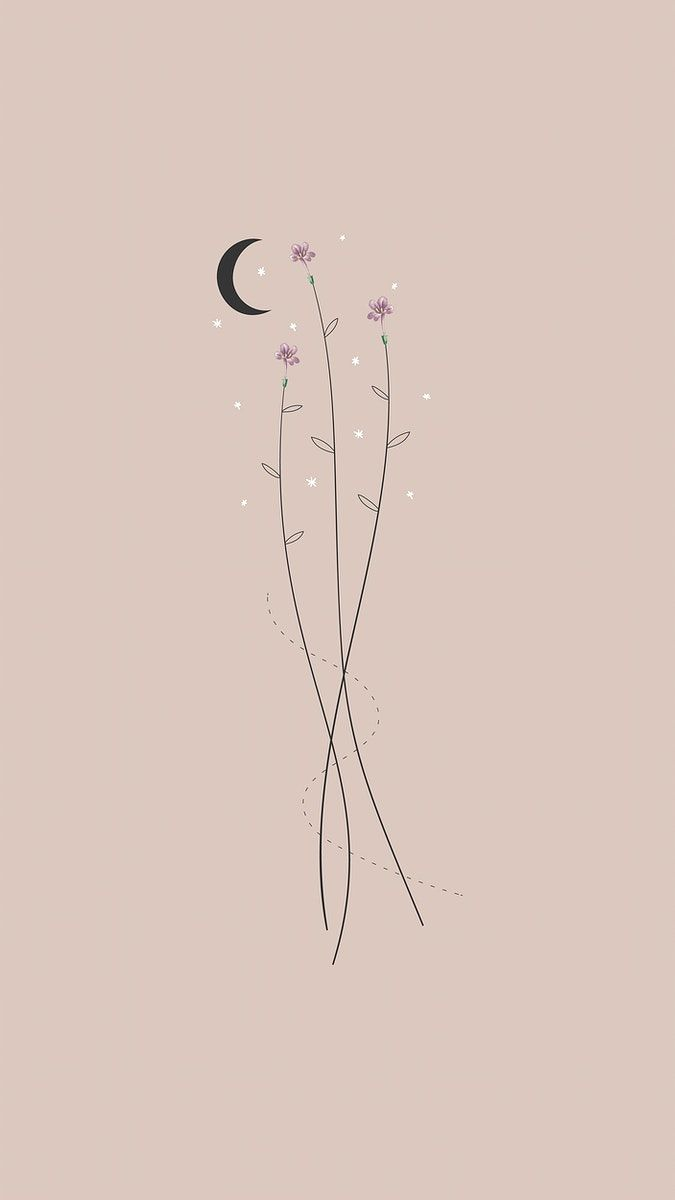 404+Download premium vector of Flowers and the moon mobile phone wallpaper vector by marinemynt about wallpaper, boho, moon, iphone wallpaper, and bohemian 1227217