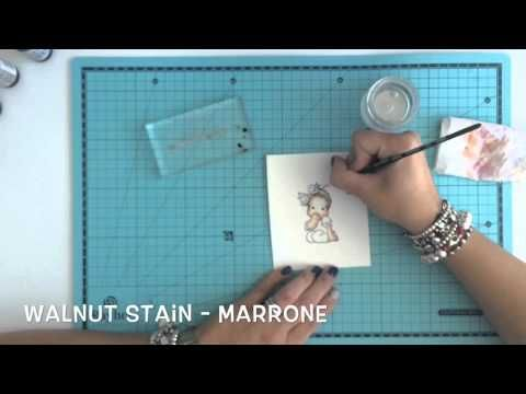 Coloring Magnolia Tilda with Distress Ink Reinker - YouTube