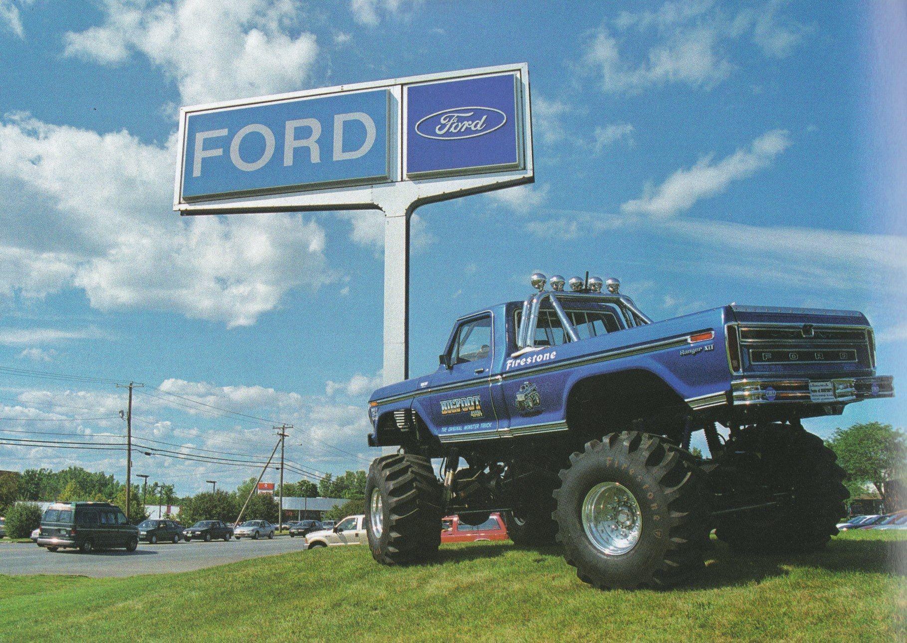 BIGFOOT I Visits A Local Ford Dealership BIGFOOT XX - Nearest ford dealership