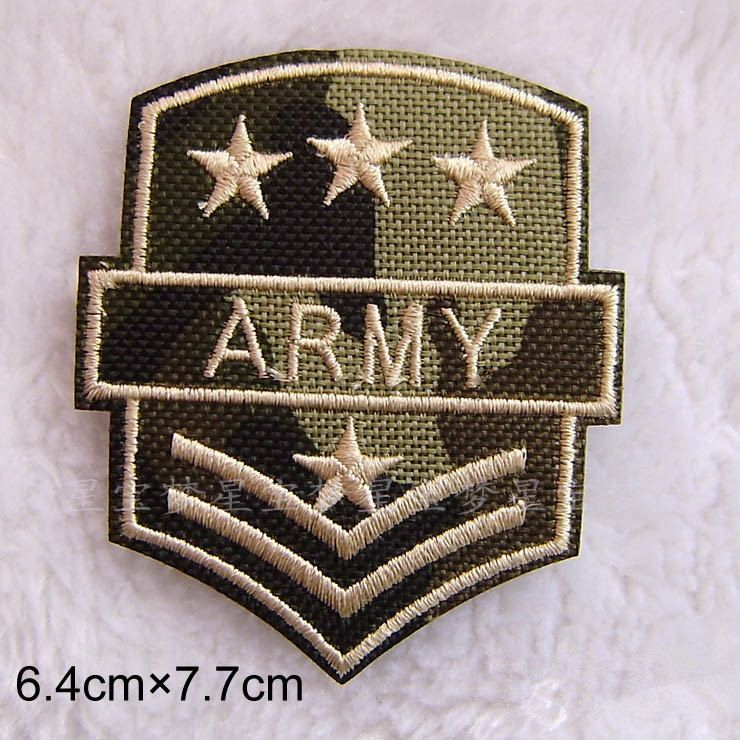 Embroidery Applique Patch Sew Iron Badge Camouflage Army Gold Lips Sew On