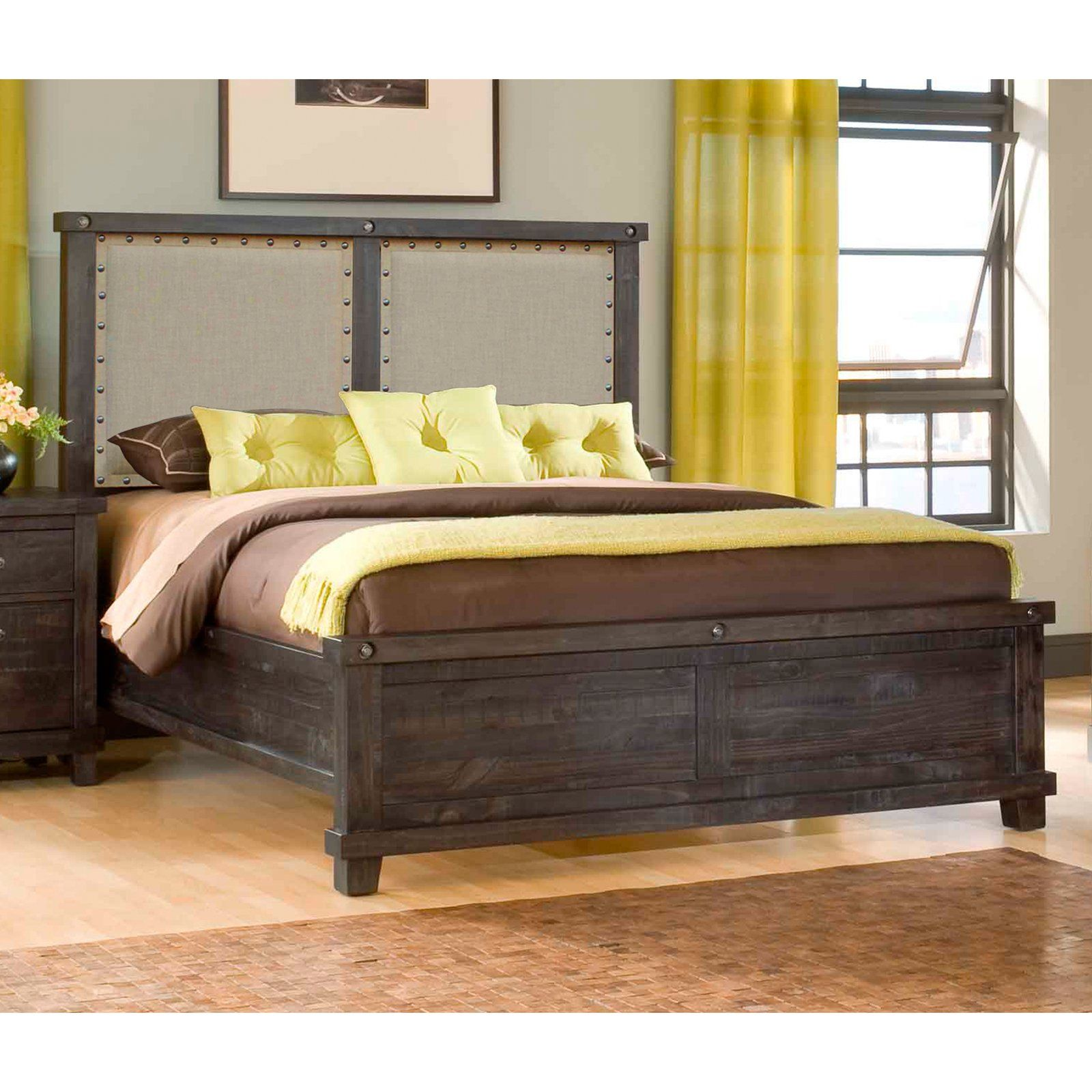 Yosemite Upholstered Panel Bed Upholstered panel bed