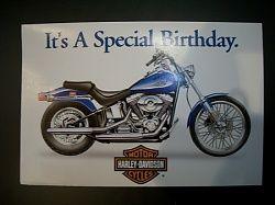 Birthday Ecards Harley Davidson ~ Birthday wishes motorcycle harley davidson blue softail card