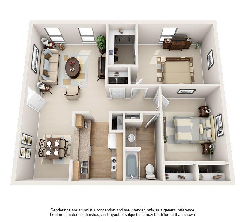 Luxury 1 2 Bedroom Apartments In Bellaire Floor Plans Two Bedroom Apartments Apartment Floor Plans Apartment Layout