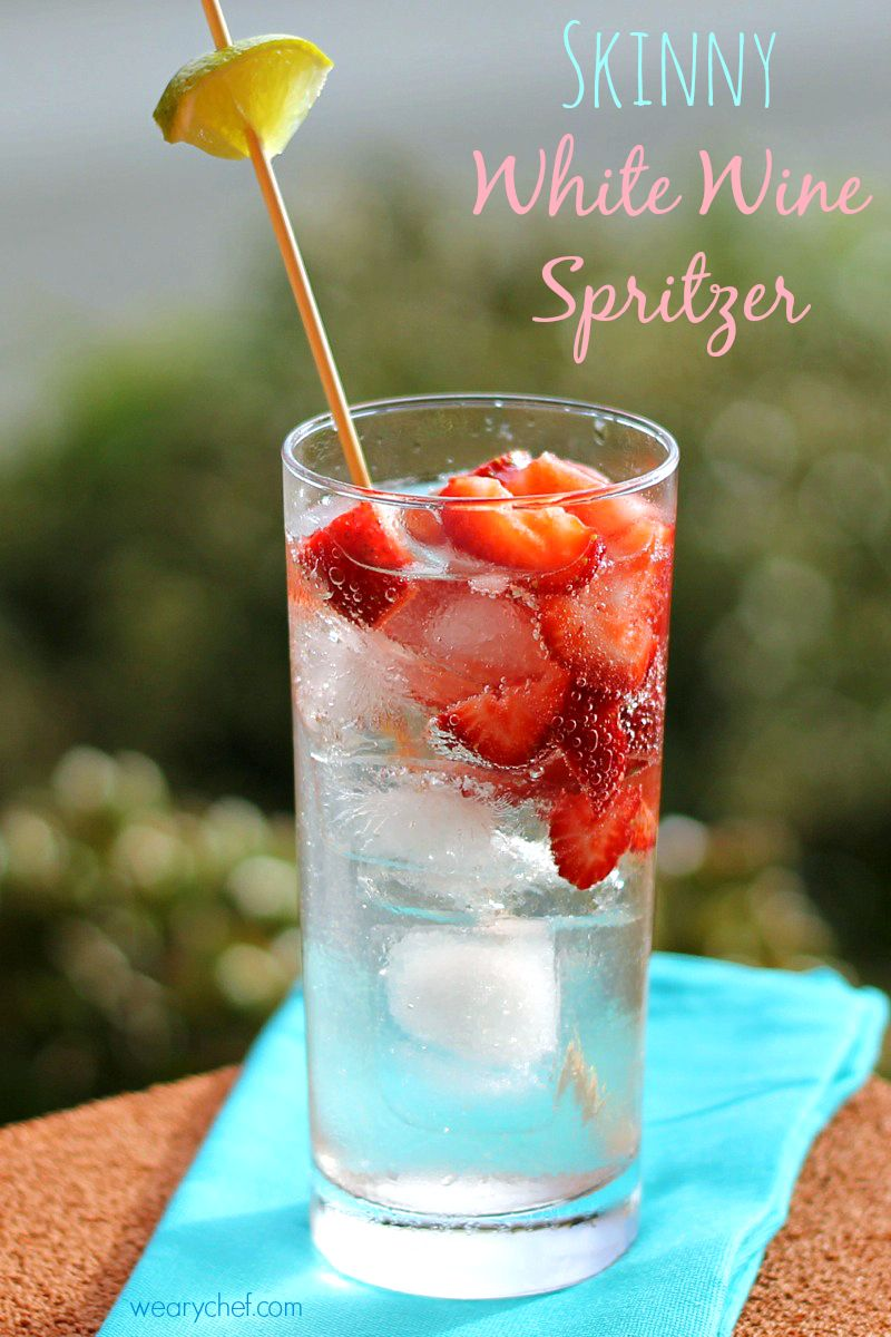 This Refreshing White Wine Cocktail Is Easy On Your Waistline And Wallet White Wine Cocktail Wine Spritzer White Wine Spritzer
