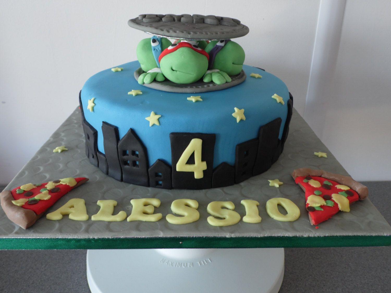 Handmade Edibe Tmnt Teenage Mutant Ninja Turtles Cake Topper Birthday Turtle Cake Ninja Turtle Cake Topper Ninja Turtle Cake