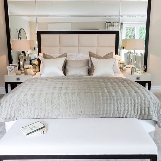Love The Mirrors With The Headboard Really Pretty Designed By