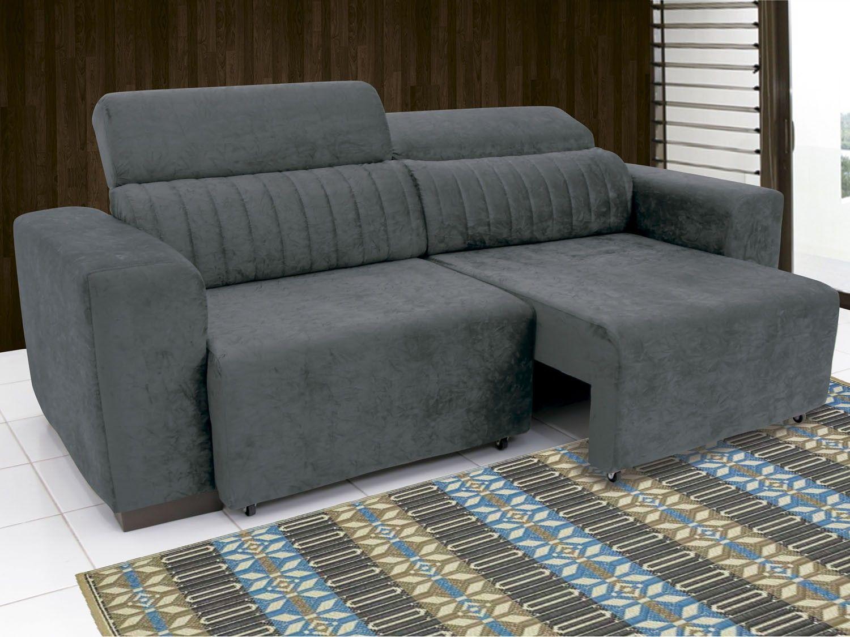 Sofá Retrátil E Reclinável 4 Lugares Suede Elite Linoforte Sofás Com Ou Mais