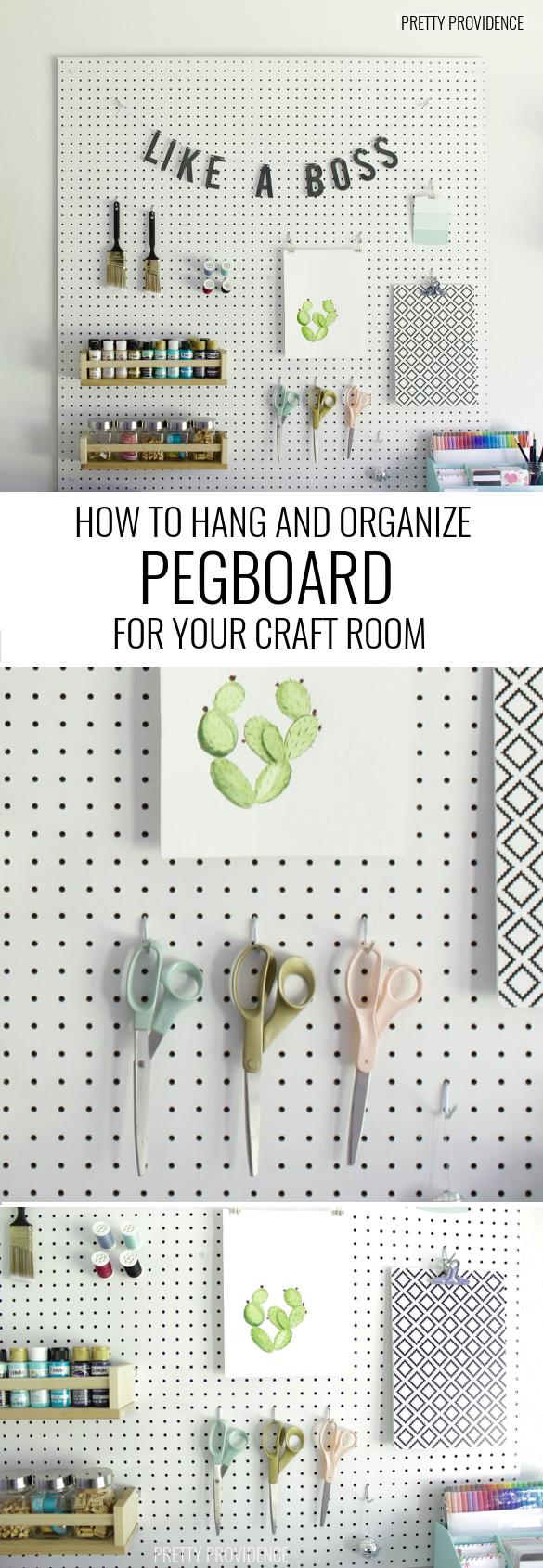 Craft Room Pegboard #craftroomideas