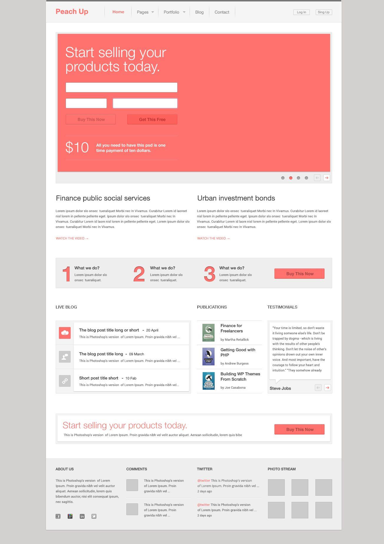 Free Psd Peach Up Web Design Web Graphic Design Free Psd Design