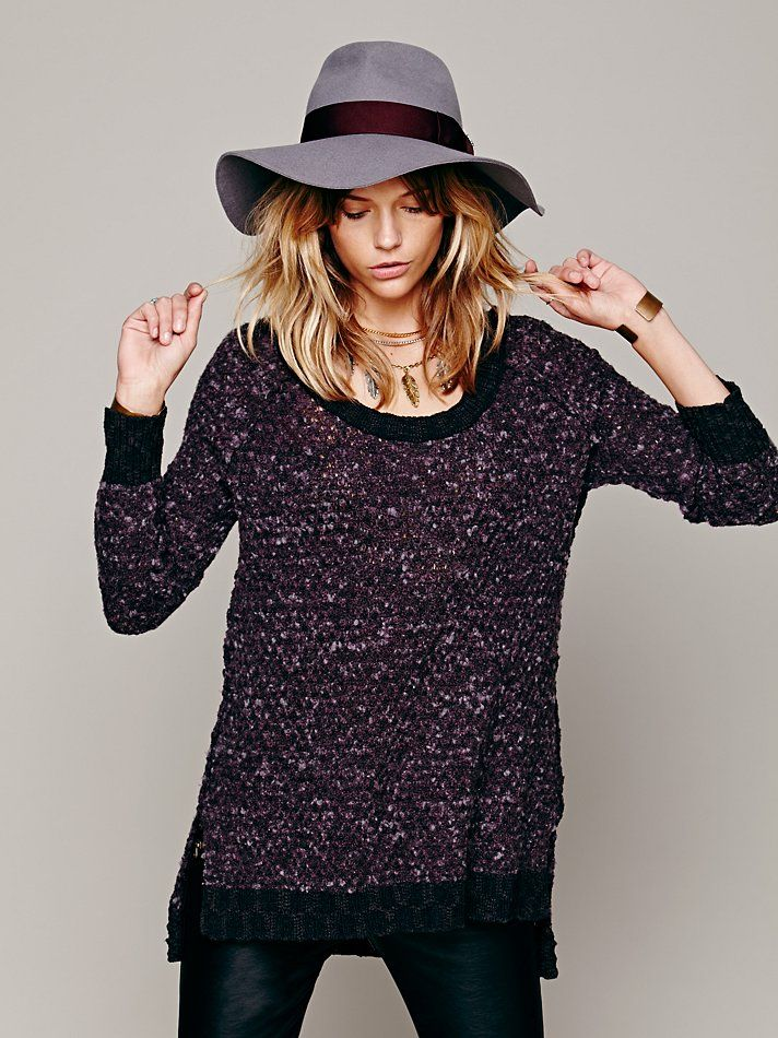 Free People Honeycomb Mix Pullover, Hat.