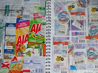 """my artwork - aqua vitae: 31 mei16 art journaling pages with """"domestic""""stick..."""