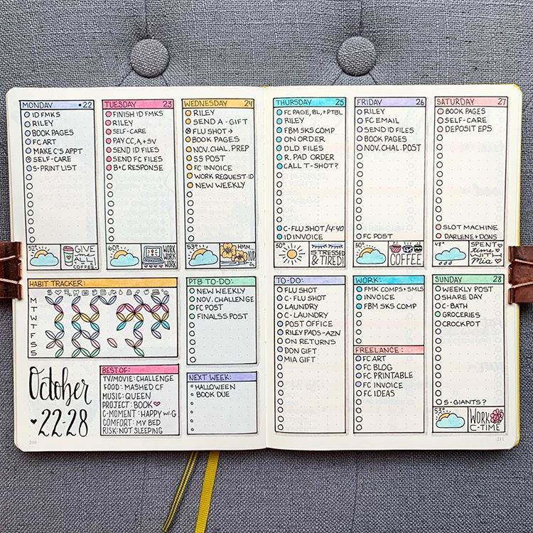 30 Amazing Bullet Journal Weekly Spreads Youll Want To Steal  TheFab20s  March bullet journal cover