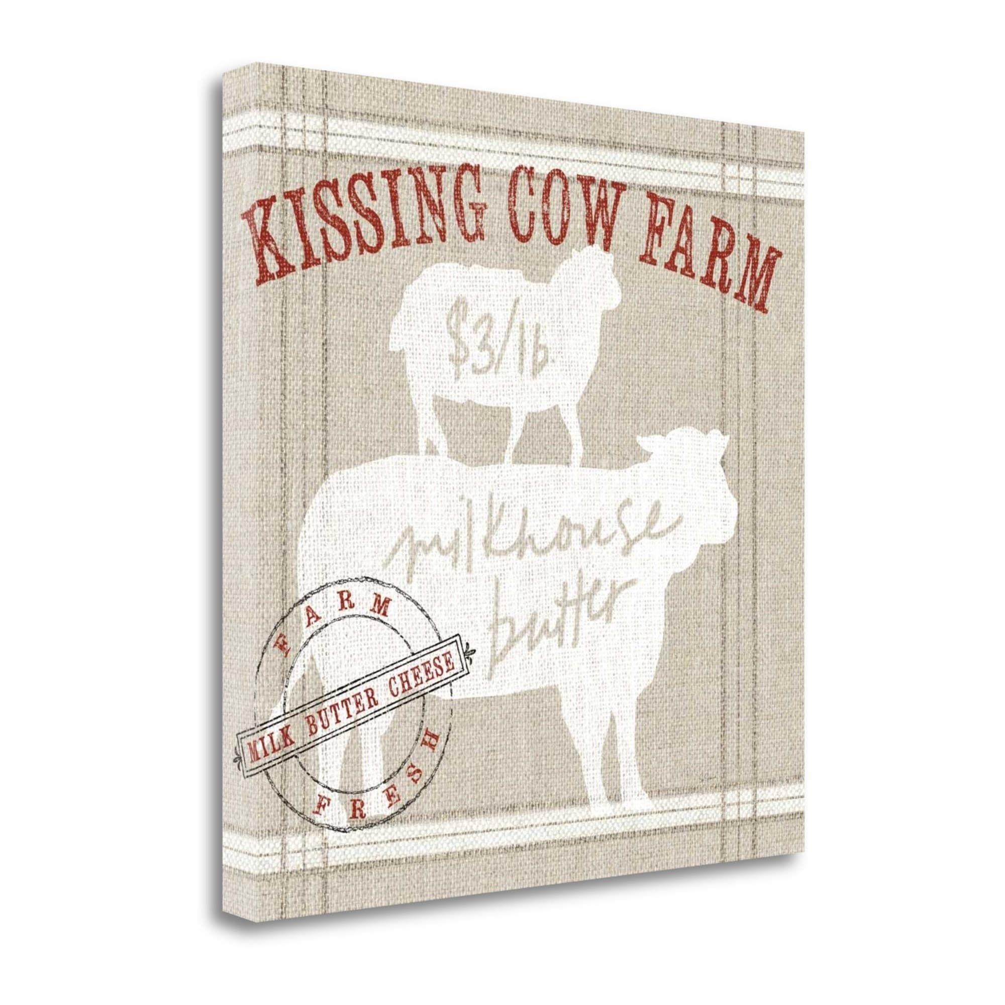 8x10 küchenideen tangletown fine art farm linen cow by sue schlabach gallery wrap
