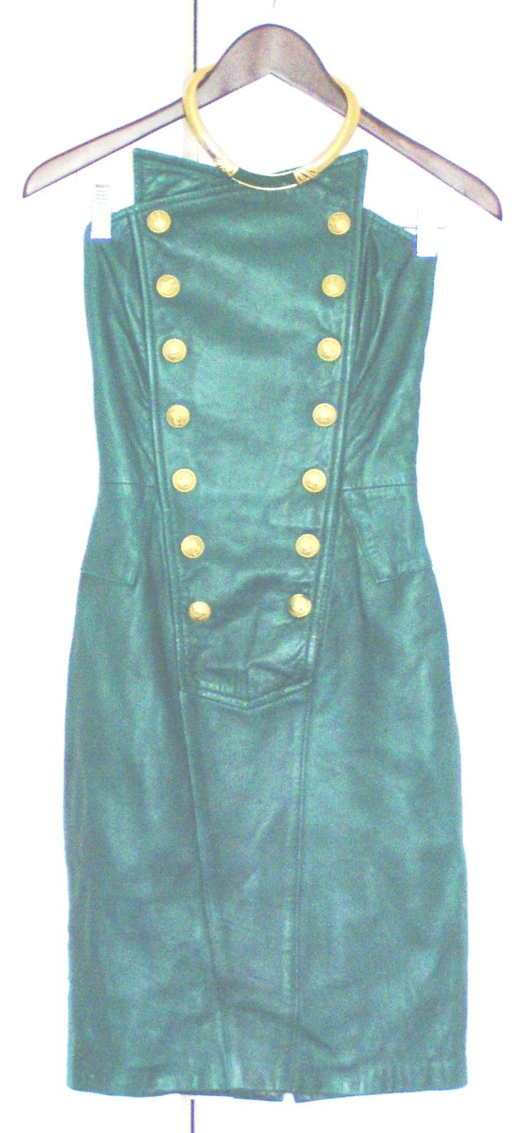 This was my emerald green north beach leather prom dress circa