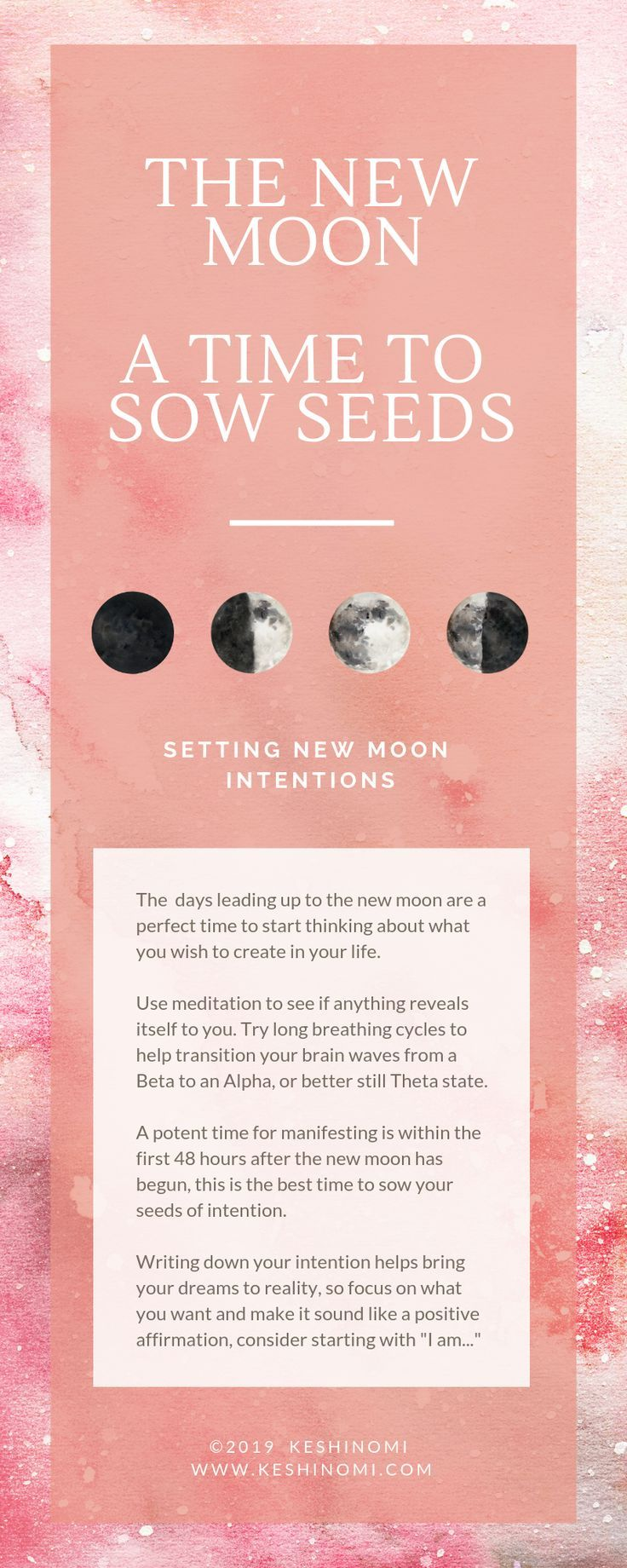 how to set intentions new moon