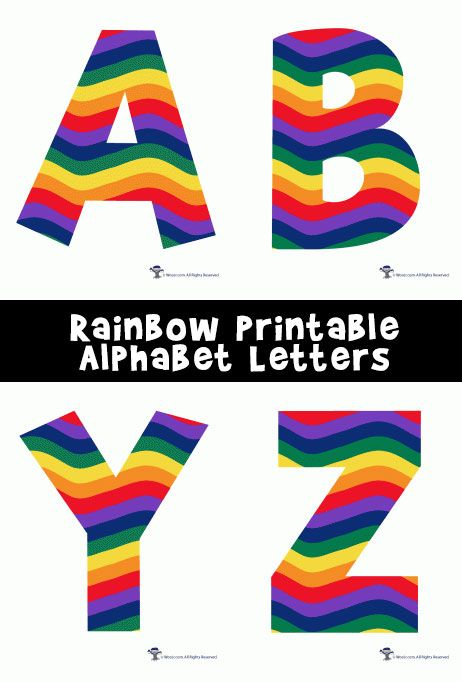 graphic relating to Colorful Alphabet Letters Printable named Rainbow Alphabet Printable Letters 3rd quality Printable