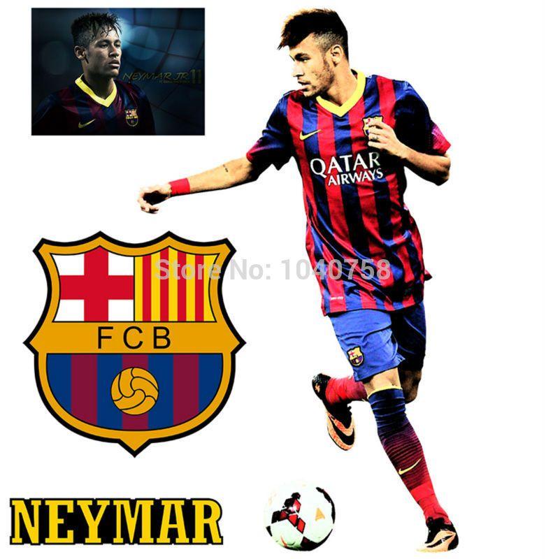 Find More Wall Stickers Information About La Liga Star Neymar Junior Soccer Sticker Sports Football Decal For Kid Boys Room Decoration Art