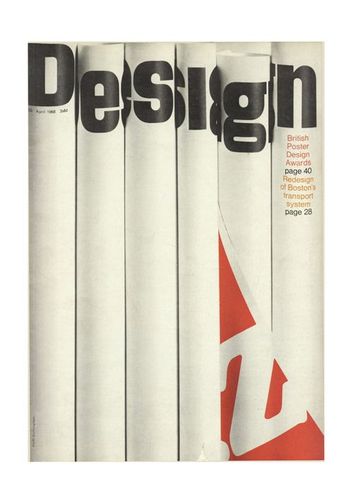Keith Cunningham, cover artwork for Design Magazine 232, 1968.