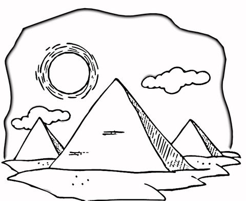 Hot Egyptian Desert coloring page from Egypt category