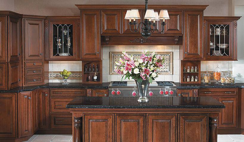 kraftmaid cabinets chocolate with ebony glaze - Google ...