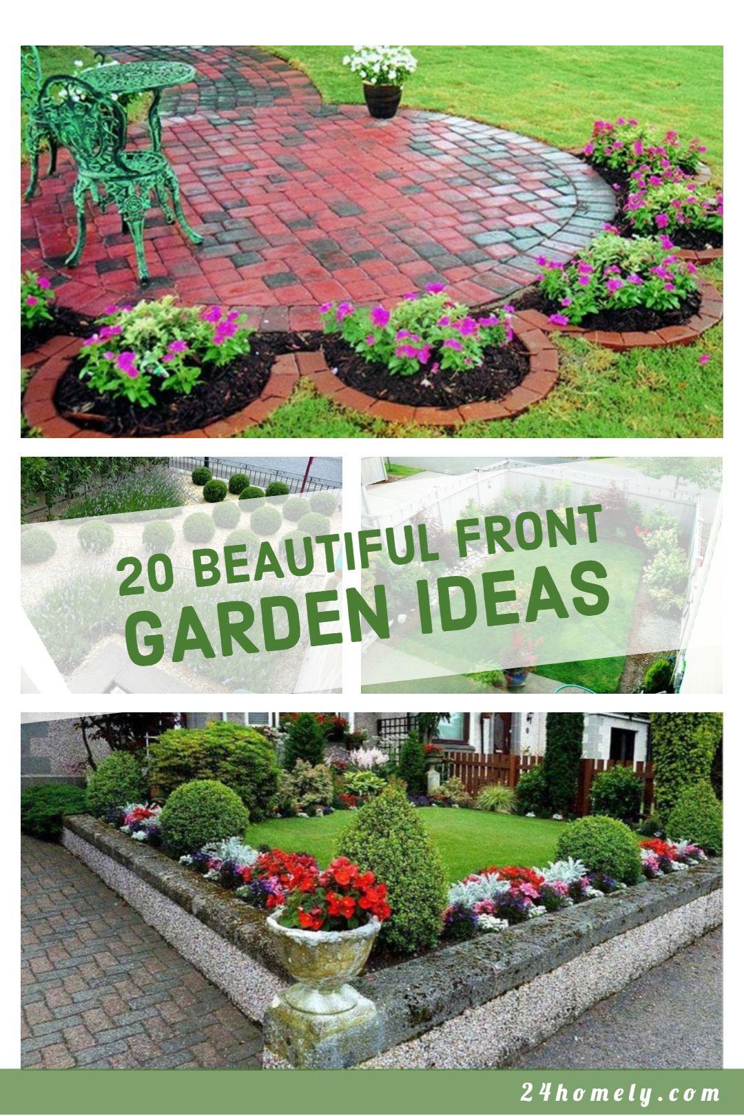 20 Beautiful Front Garden Ideas That Can Make You Fall In Love Front Garden Front Garden Design Courtyard Garden