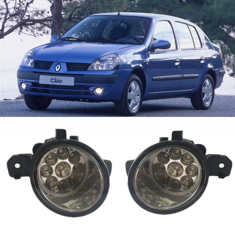 Car Styling For For Renault Clio Symbol 2001 2008 9 Pieces Leds Fog