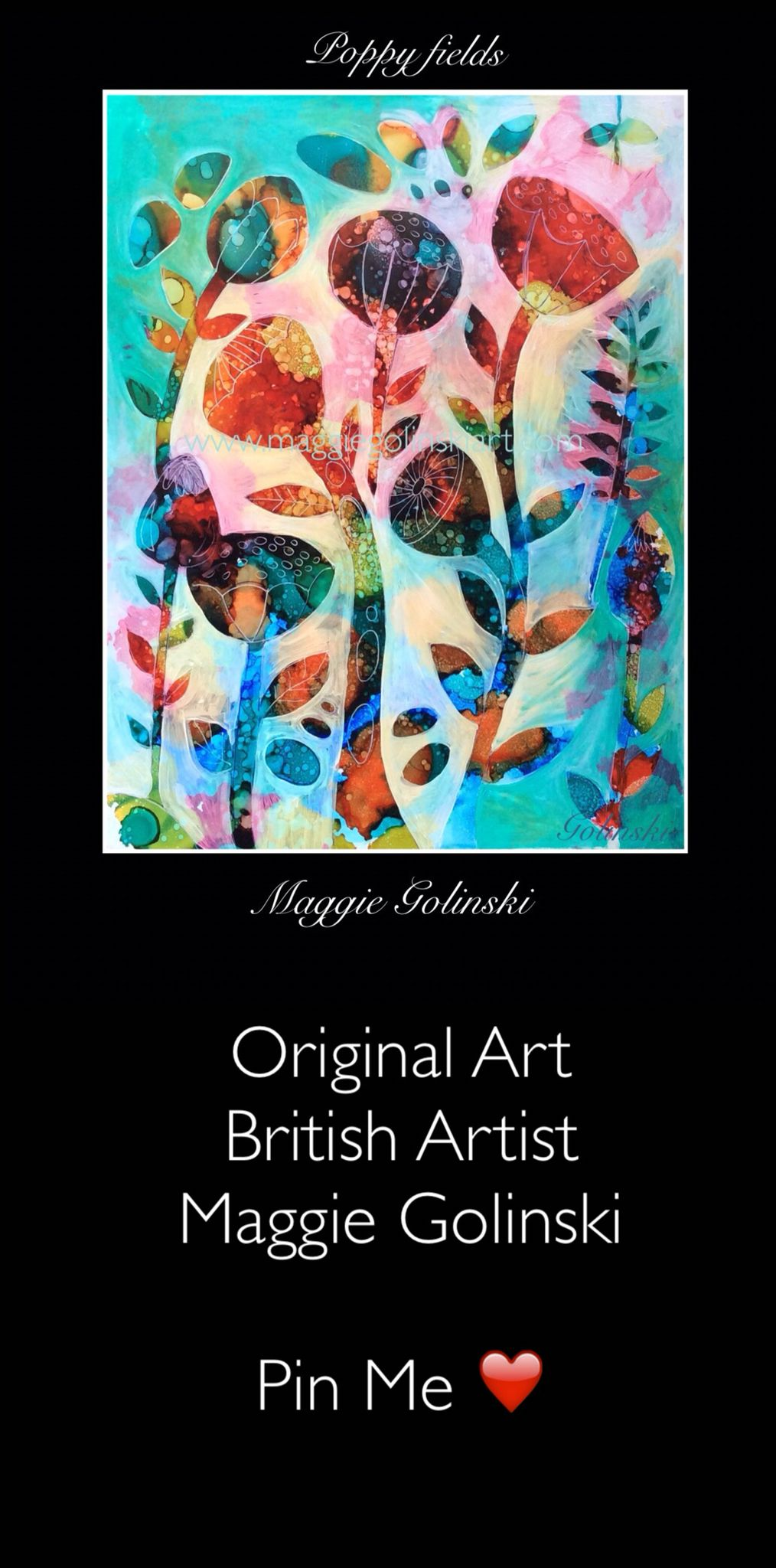 For fabulous original art by British artist Maggie Golinski visit her Etsy store. Great ideas for home decor. Pin for later #alcoholinkart #originalart #britishartist #homedecorideas #art #alcoholinkpainting #smallpaintings #abstractart #contemporary art