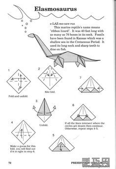 Image Result For Origami Dinosaur