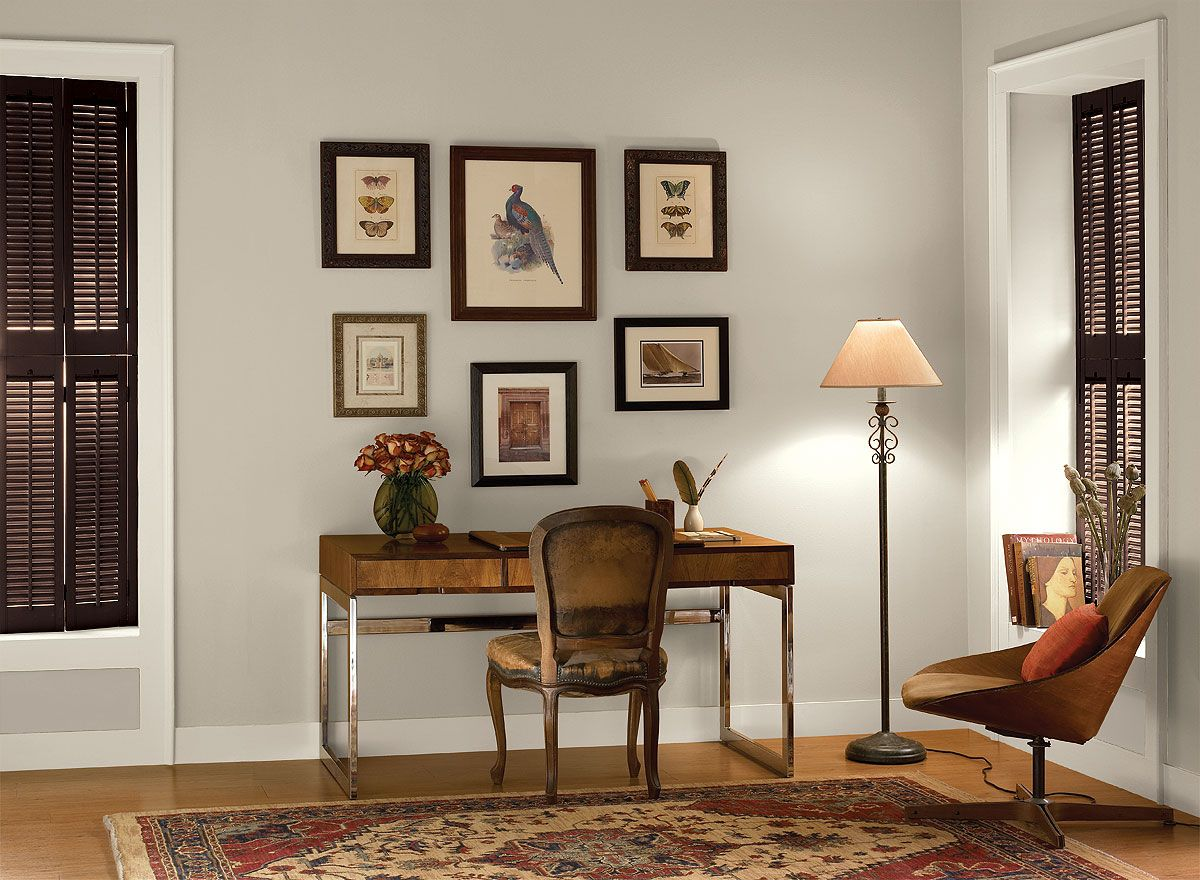 Merveilleux Benjamin Moore Paint Colors   Neutral Home Office Ideas   Poised U0026 Pretty Home  Office   Paint Color Schemes