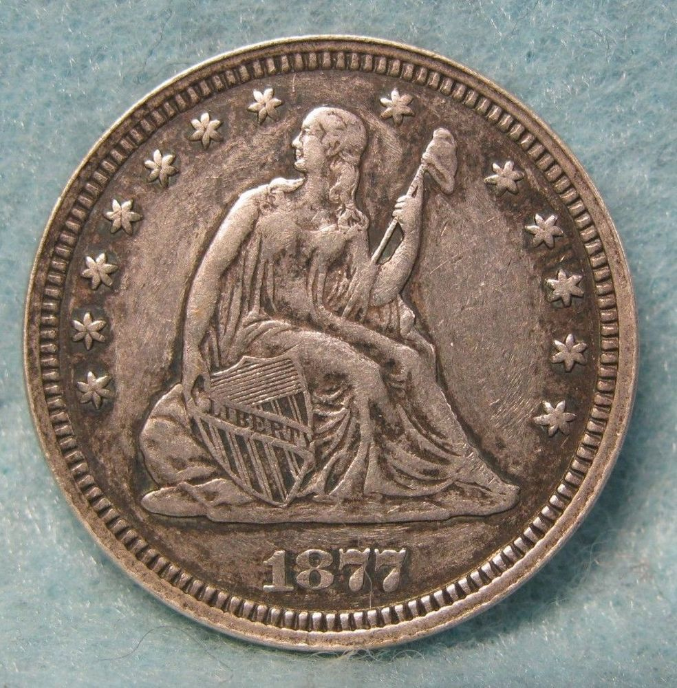 1877 Cc Carson City Mint Seated Liberty Silver Quarter Solid Xf Details Us Coin Coins Rare Stamps Antique Coins