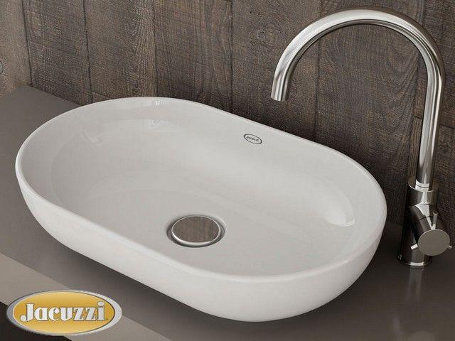 Lavello Bagno ~ Jacuzzi glow lavabo appoggio ovale bian lavabi bagno