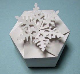 Kreativ Ötlettár: Papír dobozok és táskák (sablonnal) #floconsdeneigeenpapier