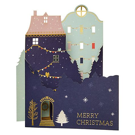 Buy John Lewis Ostravia Houses Charity Christmas Cards, Pack of 5 ...