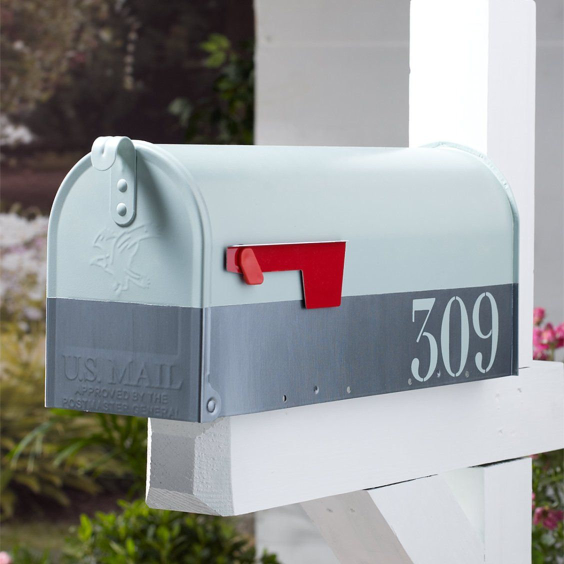 Lovely Makeover Your Mailbox With This Martha Stewart Painted Mailbox Project.  Made With Martha Stewart Home