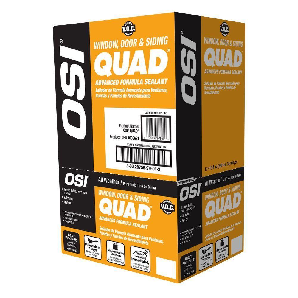 Osi 10 Fl Oz 739 Green Quad Advanced Formula Window Door And Siding Sealant 12 Pack Green 739 Products Fiber Cement Siding Vinyl Siding Kiln Dried Wood