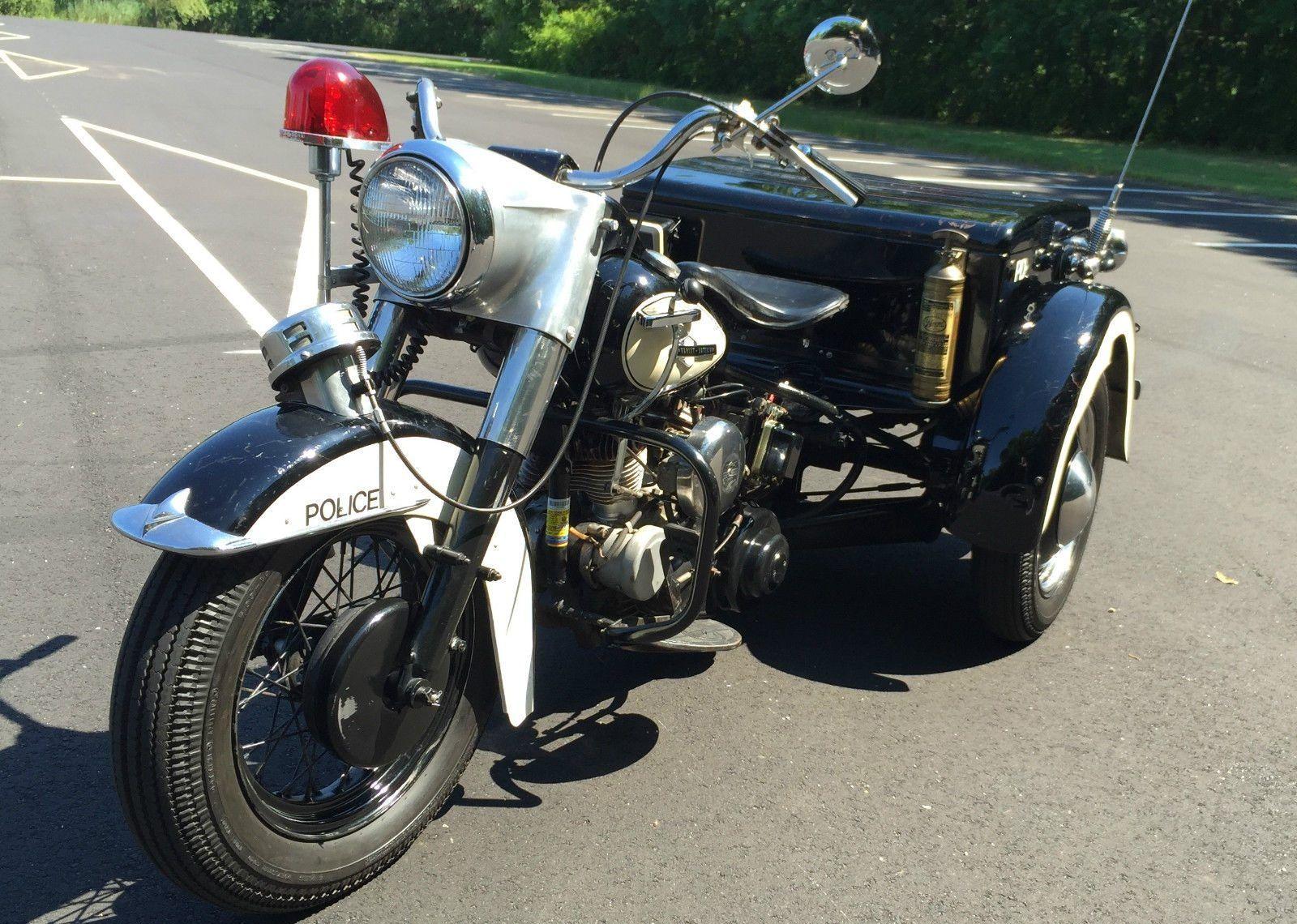 1963 Harley Davidson Police Trike Survivor Barn Finds Harley