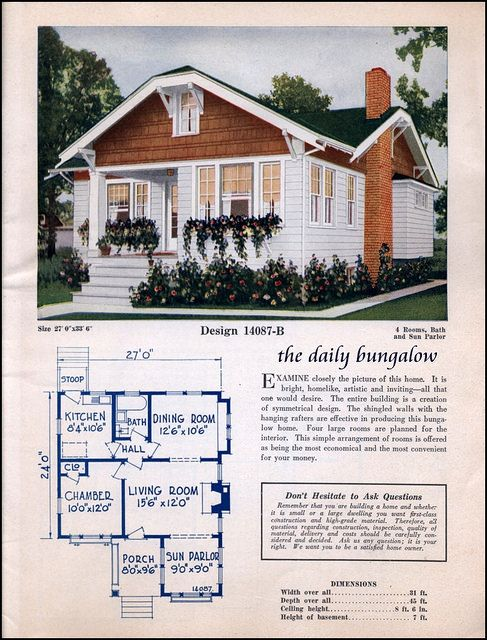 Cute Cottage Bungalow With Floor Plan Vintage House Plans Dream Cottage Cottages And Bungalows